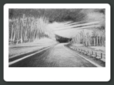 New England Road, Graphite, 5 x 7 inches, 2006